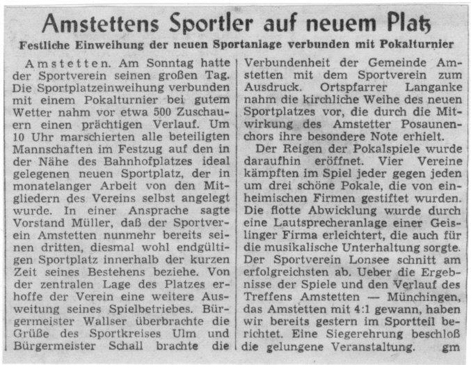 Bericht der Schwäbischen Donauzeitung